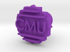 CMU Cufflink in Purple Processed Versatile Plastic