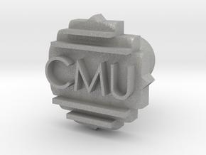 CMU Cufflink in Aluminum