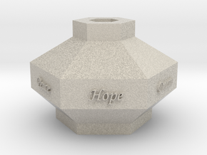 Hex Vase in Natural Sandstone