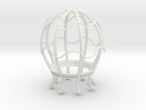 LightBulb Cage  in White Strong & Flexible