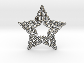 0511 Celtic Knotting - Star Grid [5] in Fine Detail Polished Silver