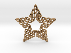 0511 Celtic Knotting - Star Grid [5] in Polished Brass