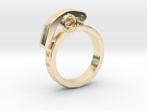 The Gringade - Grenade Ring (Size 8.5) in 14K Yellow Gold