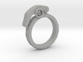 The Gringade - Grenade Ring (Size 8.5) in Aluminum
