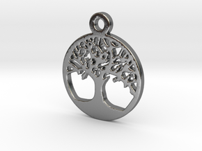 Tree Of Life Pendant in Polished Silver