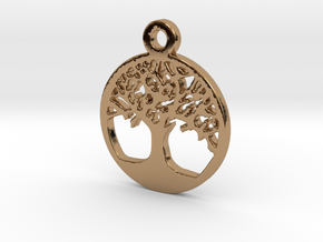 Tree Of Life Pendant in Polished Brass
