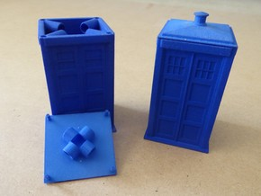 Tardis Puzzle Box in Blue Processed Versatile Plastic