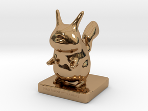 Pika toy in Polished Brass