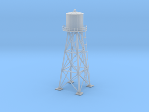 Water tower 01. HO Scale (1:87) in Smooth Fine Detail Plastic