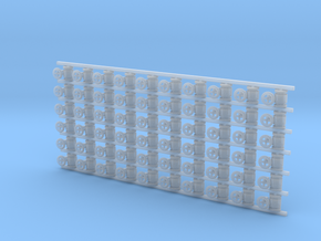 ø1.6mm Valves 60pc in Smooth Fine Detail Plastic