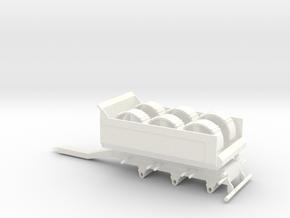 Tipphenger-kasse-rundskjerm in White Strong & Flexible Polished