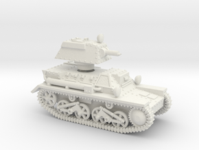 Vickers Light Mk.III (1/72) in White Natural Versatile Plastic