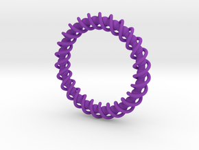 Spinning Bracelet in Purple Processed Versatile Plastic
