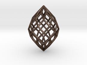 0496 Polar Zonohedron E [8] #001 in Polished Bronze Steel