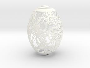 Spring Egg in White Processed Versatile Plastic