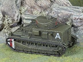 Vickers Medium Mk.II (1:100 scale) in White Natural Versatile Plastic