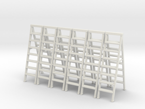 Stepladder 01.  O Scale  (1:43) in White Natural Versatile Plastic