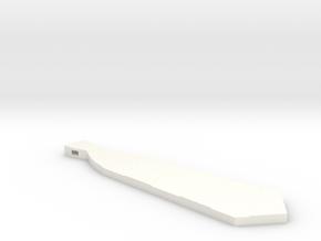Necktie Pendant in White Processed Versatile Plastic