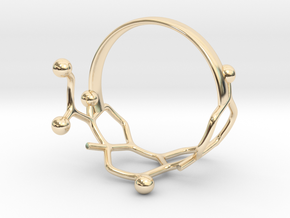 Cortisol Ring Size 8  in 14k Gold Plated Brass