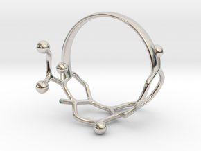 Cortisol Ring Size 8  in Rhodium Plated Brass