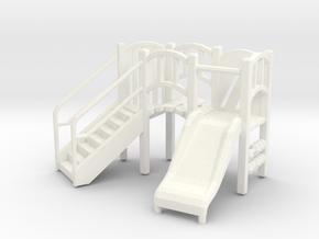 Playground Equipment 01. HO Scale (1:87) in White Processed Versatile Plastic