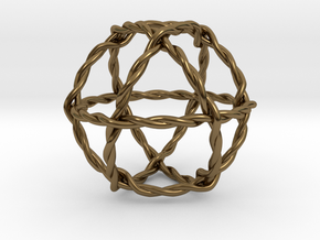 Twisted Crystal (Tensor Field Generator) in Polished Bronze