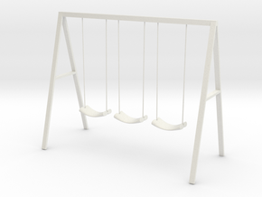 Swing set with rope seats in White Natural Versatile Plastic