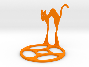 Icelandic Christmas Cat Tealight in Orange Processed Versatile Plastic