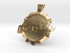 Prospekts 50mm Pendant in 14k Gold Plated Brass