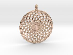 18 Ring Pendant - Flower of Life in 14k Rose Gold Plated Brass