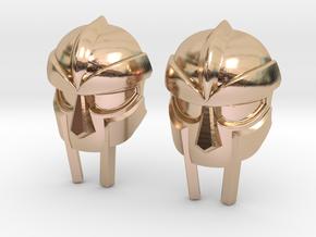 MF Doom Mask Lacelock in 14k Rose Gold
