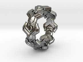 Yplus LINK Ring Size 11 in Premium Silver