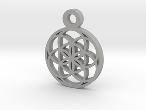 Seed Of Life Pendant in Aluminum