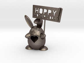 Buntitia -- Hoppy Mothers Day! in Polished Bronzed Silver Steel