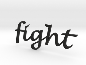 """fight"" Wall Art in Black Strong & Flexible"