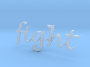 """""""fight"""" Wall Art in Smooth Fine Detail Plastic"""