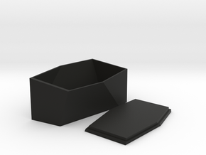 Irregular Crystal Chest And Lid in Black Natural Versatile Plastic