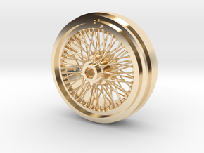 1/8 Wire Wheel Front, with 72 spokes in 14K Yellow Gold