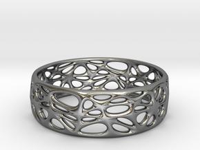Voronoi Bracelet (001) in Polished Silver