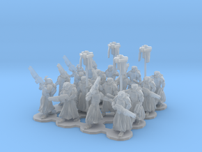 15mm Assualt Troops 16 w/ Standard Bearers in Frosted Ultra Detail
