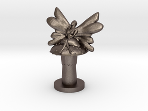 Fairy on Toadstool in Polished Bronzed Silver Steel