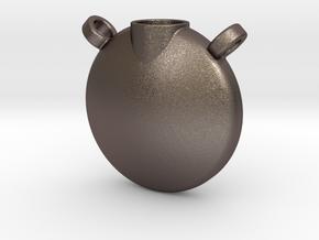 Urn 2 in Polished Bronzed Silver Steel
