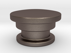 Urn 2 Cap in Polished Bronzed Silver Steel
