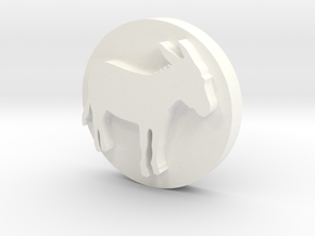 Donkey Soap Stamp in White Processed Versatile Plastic