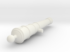 1:24 scale 3/4lb Swivel gun (no handle) in White Natural Versatile Plastic