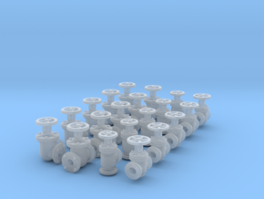 "20 Valves (various designs) For 1.6mm (1/16"") Rod in Frosted Ultra Detail"
