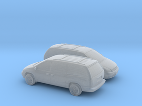 1/148 2X 1995-2000 Chrysler Grand Voyager in Smooth Fine Detail Plastic