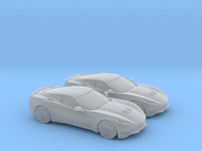 1/148 2X 2014 Chevrolet Corvette Stingray in Frosted Ultra Detail