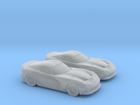1/148 2X 2011 Dodge Viper in Smooth Fine Detail Plastic