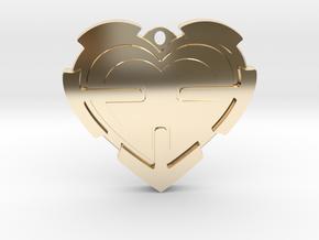 Heart Pendant  in 14K Yellow Gold